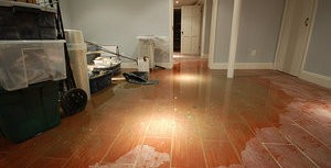 Flooded Residential Property After A Pipe Burst