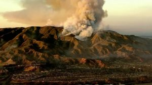 Canyon Fire Rages In The Mountains